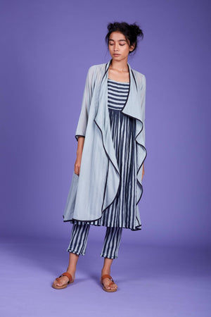 Jana Jacket Dress and Pant Set- SS Blue