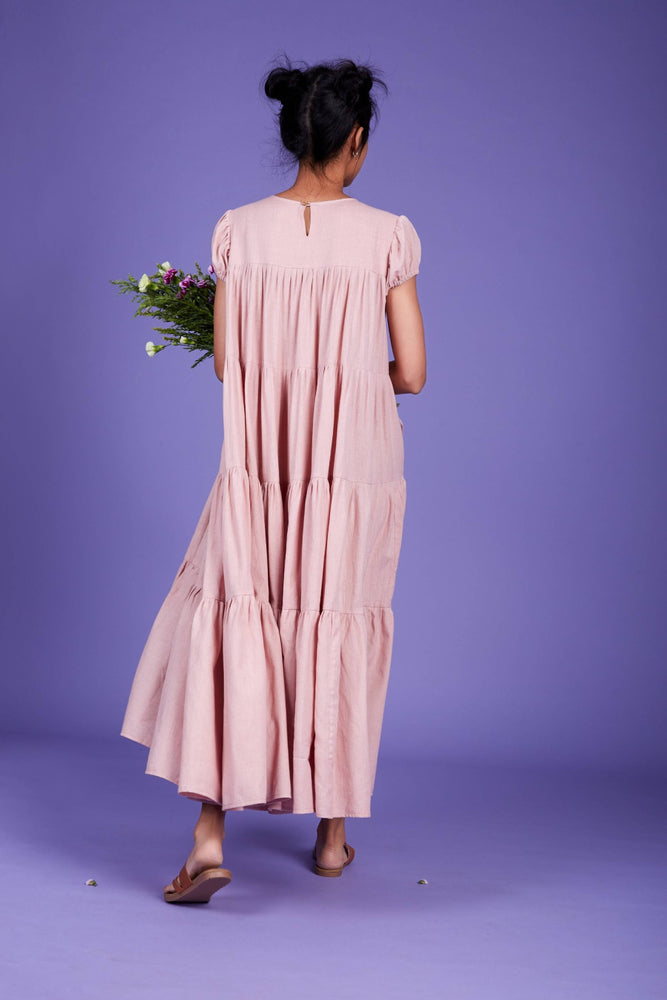 Vena Aakar Dress SS Pink