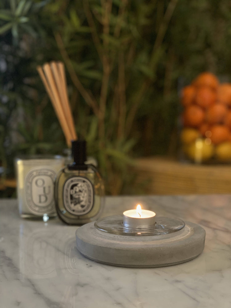 DIY Concrete Kit : Glass Candle Holder