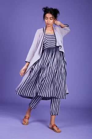 Load image into Gallery viewer, Jana Jacket Dress and Pant Set- SS Lavender