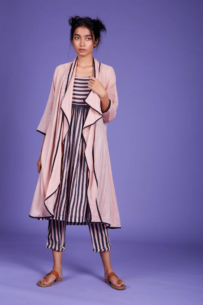 Load image into Gallery viewer, Jana Jacket Dress and Pant Set- SS Pink