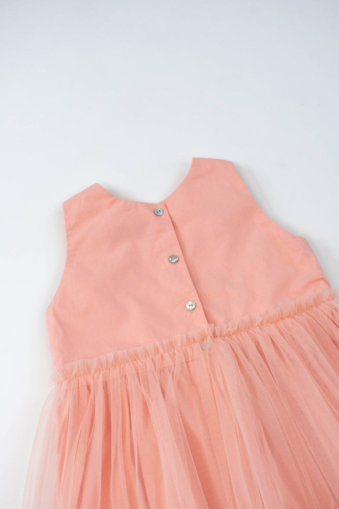 Dreamland Tulle Dress in Salmon