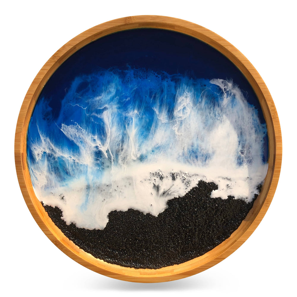 Black Sand Beach Large Tray