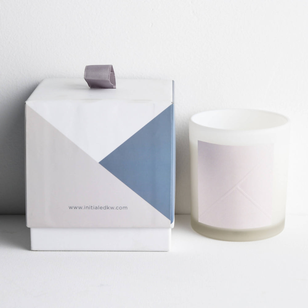 Frosted White Candle - Gardenia