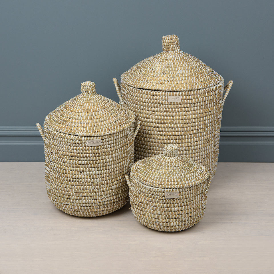 African Coiled Basket Set