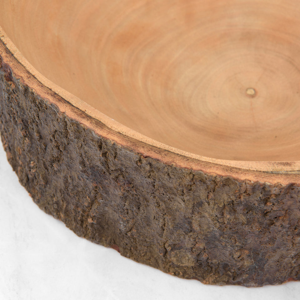Handcrafted Mango Wood Bowl with Bark