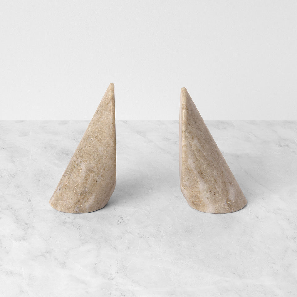 Cylindrical Marble Bookends