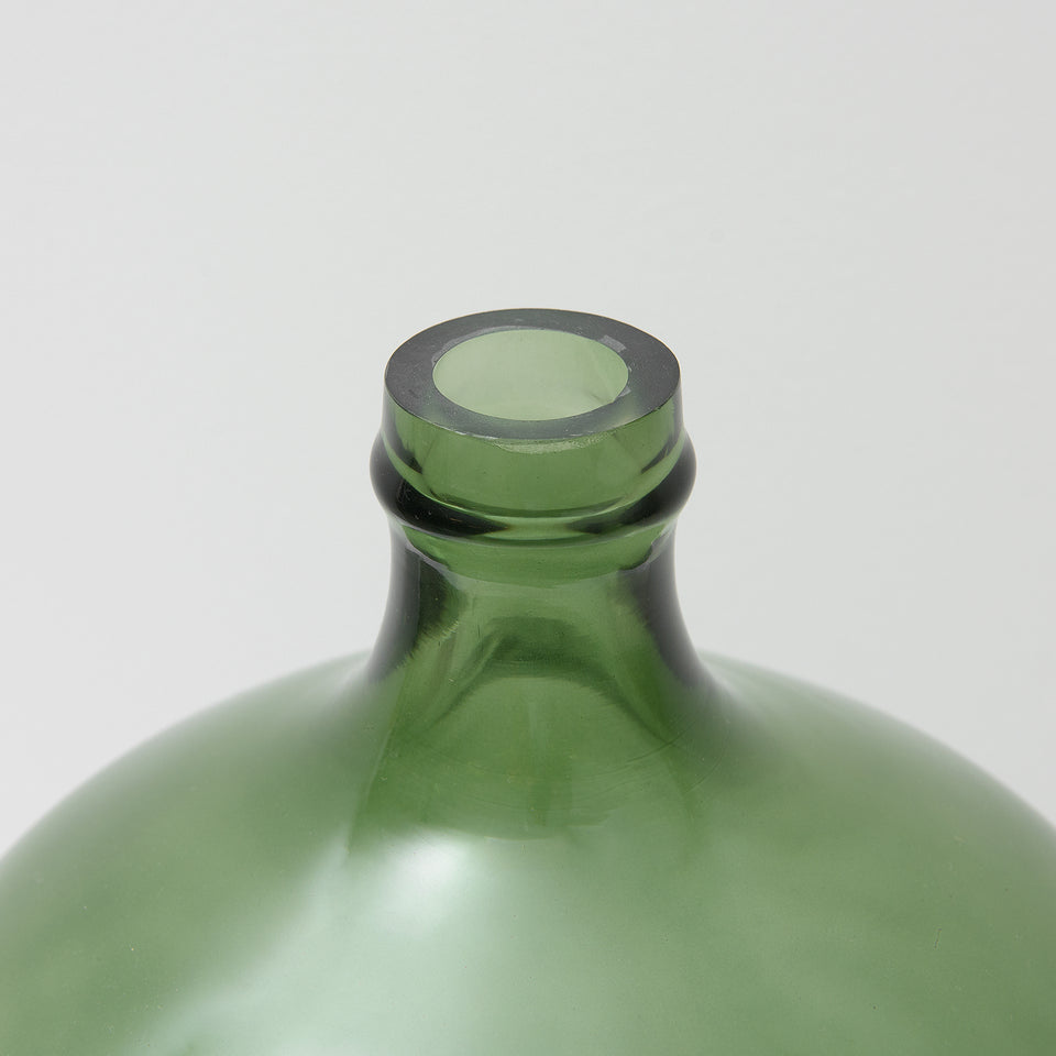 Vintage Reproduction Green Glass Bottle