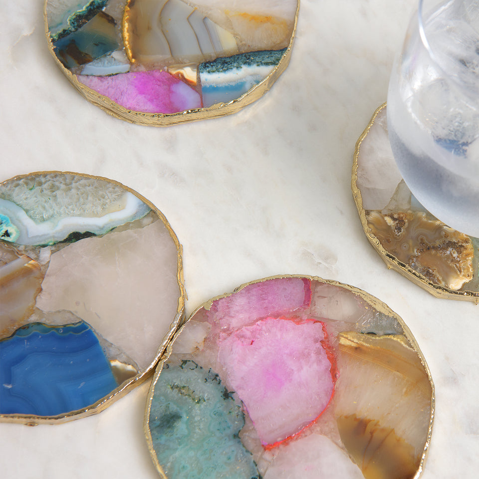 Mixed Agate Coaster