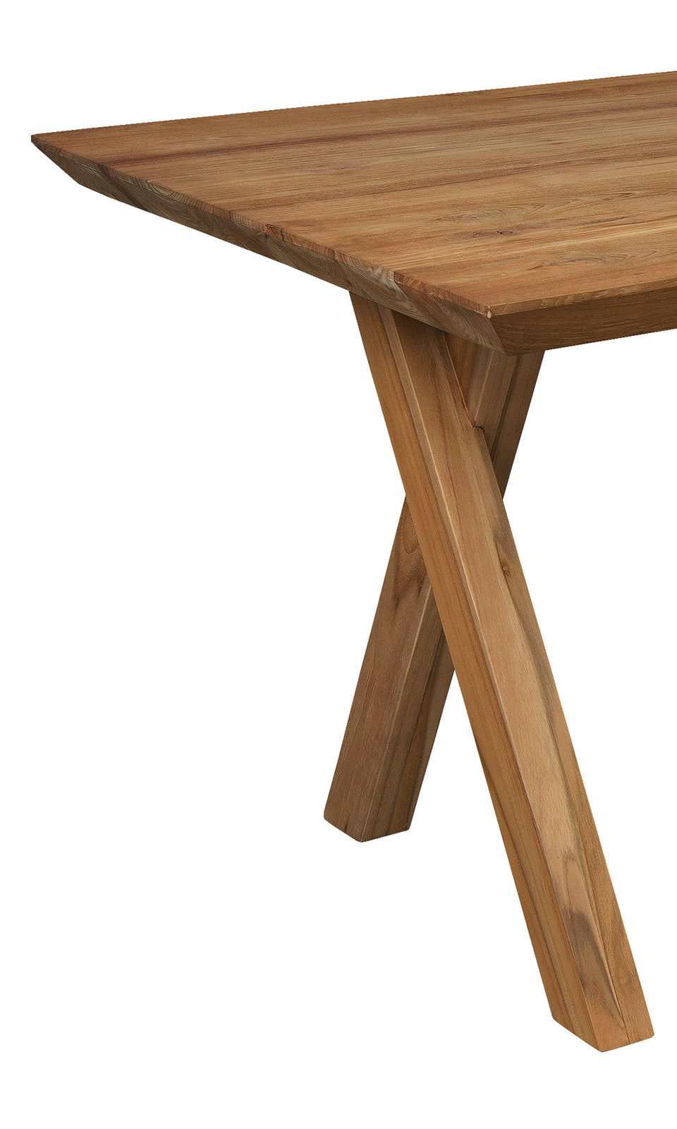 Bayan Teak Dining Table with X-shaped Legs