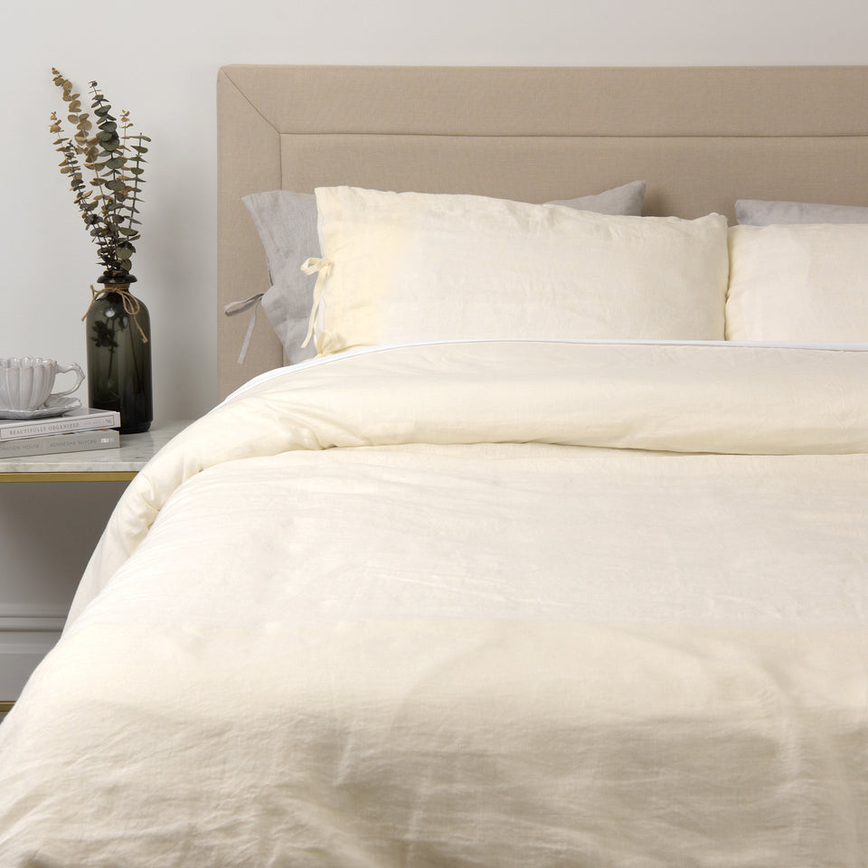 Linen Duvet Set with Tie Straps
