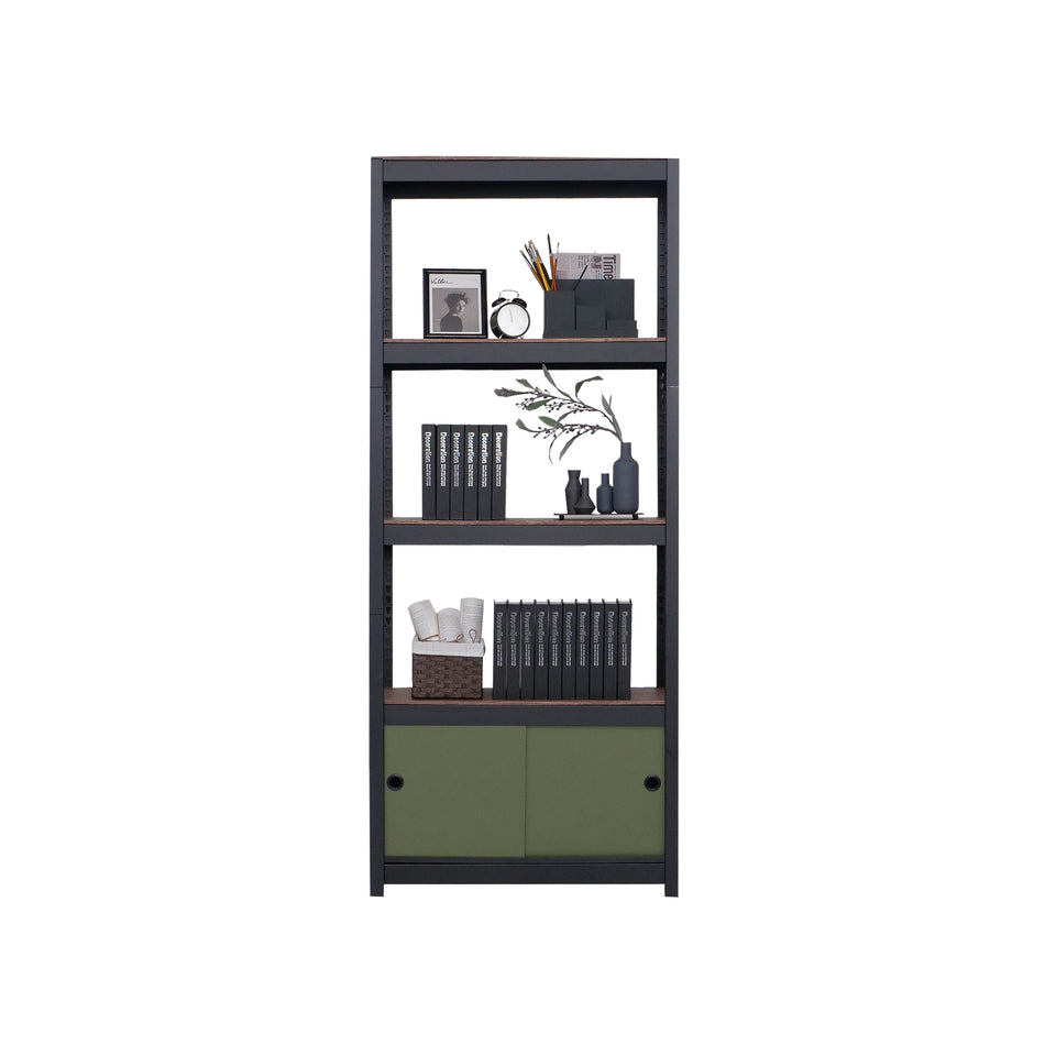 Kepsuul 4 Shelf + 1 Door Customizable Modular Shelving and Storage