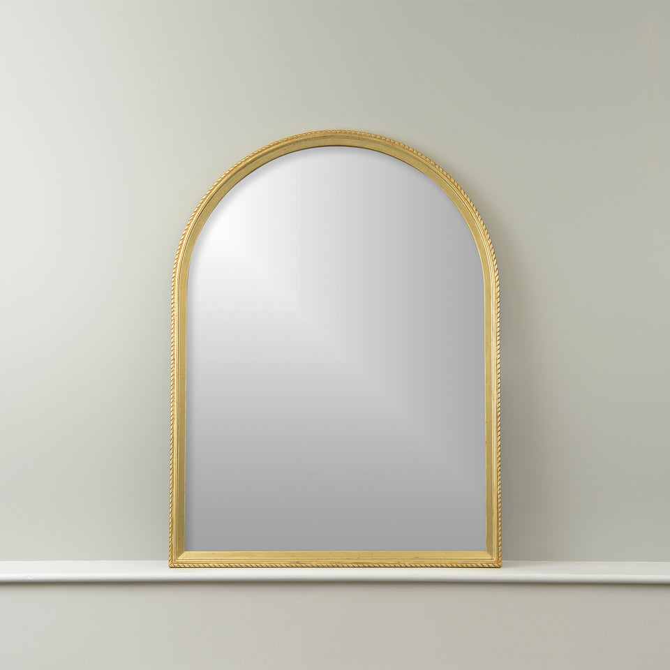 Arch Mirror with Notched Frame