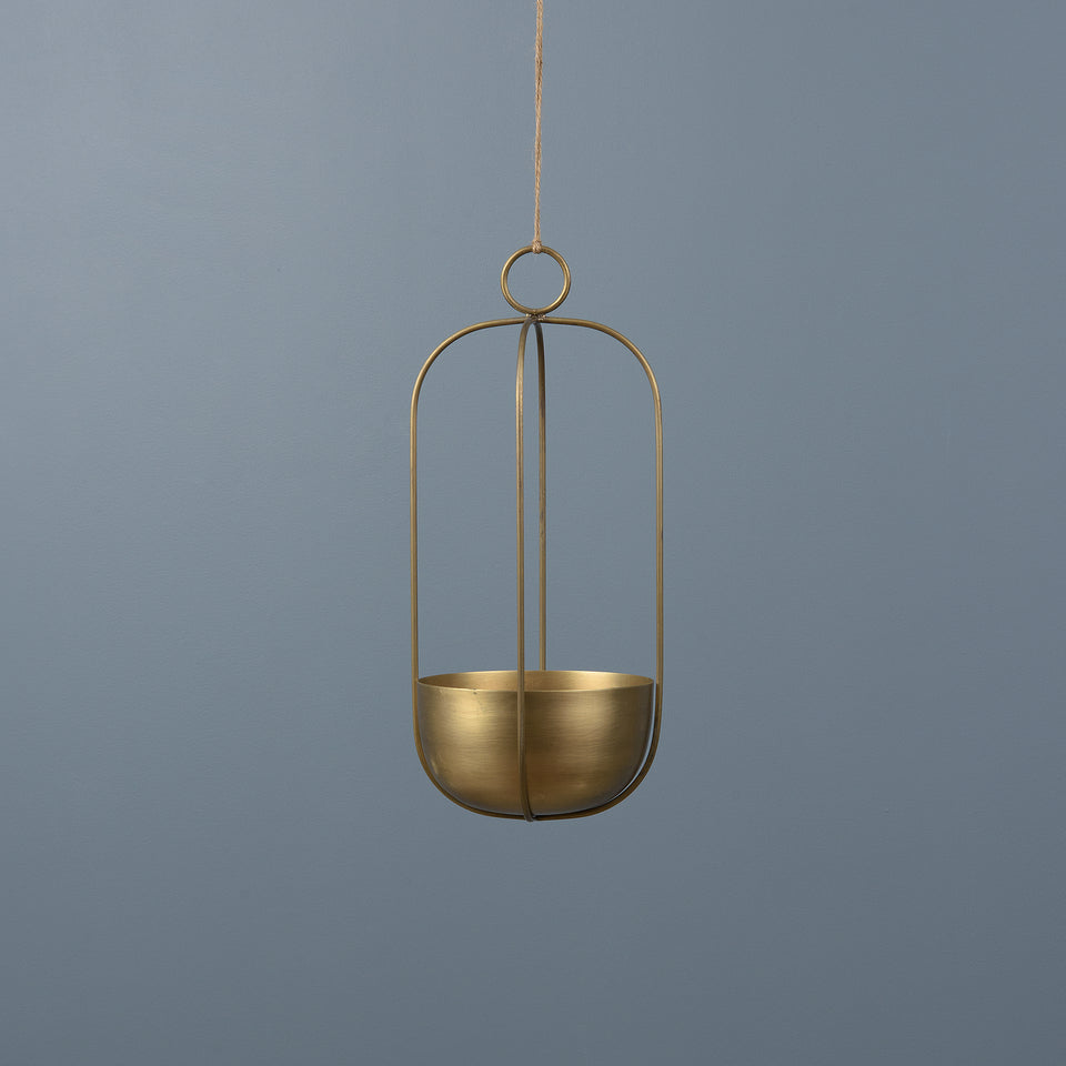 Semi-Circle Hanging Metal Planter