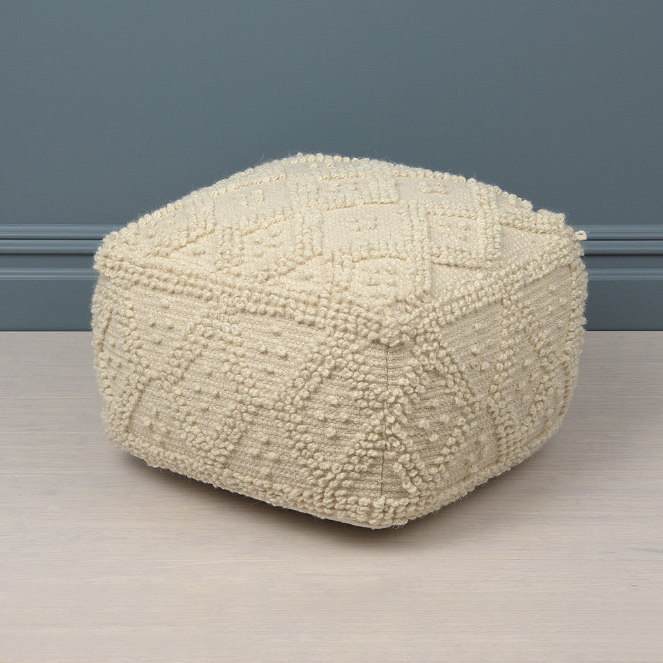 Textured Diamond Pouf