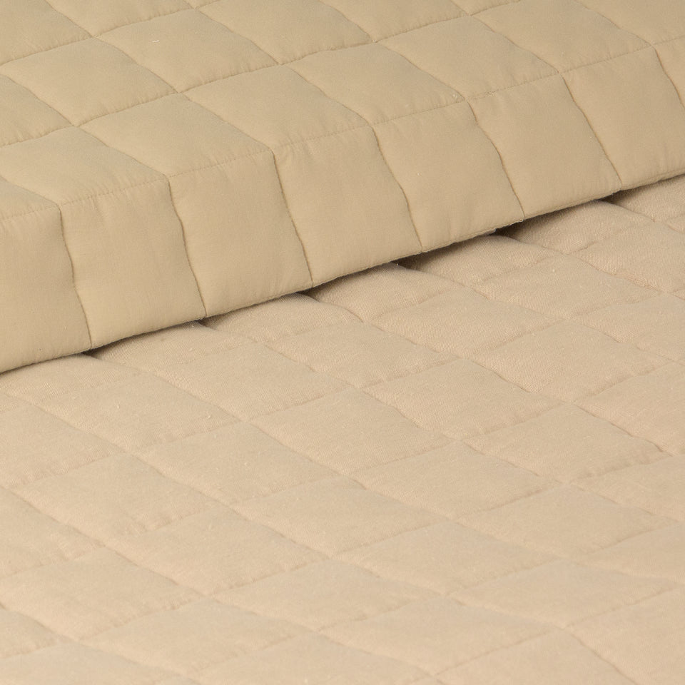 Linen and Cotton Diamond Quilt