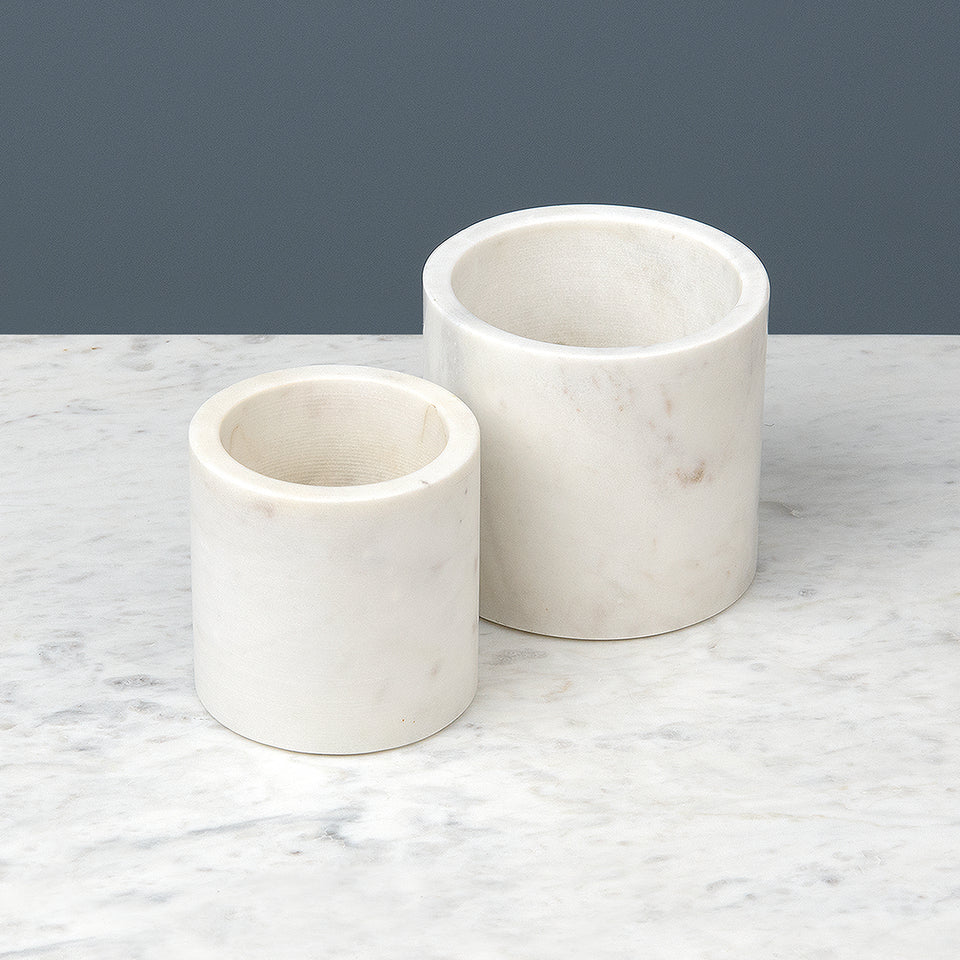 White Marble Pot Collection