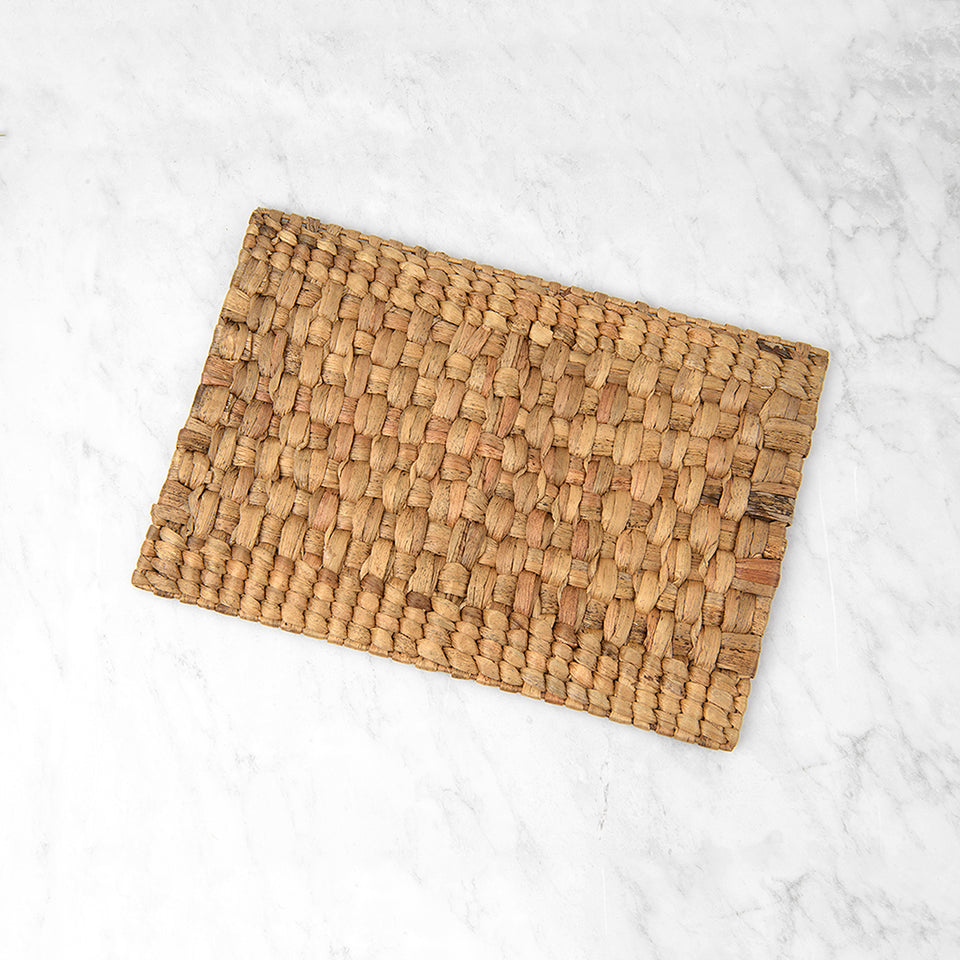 Rectangle Woven Water Hyacinth Placemat