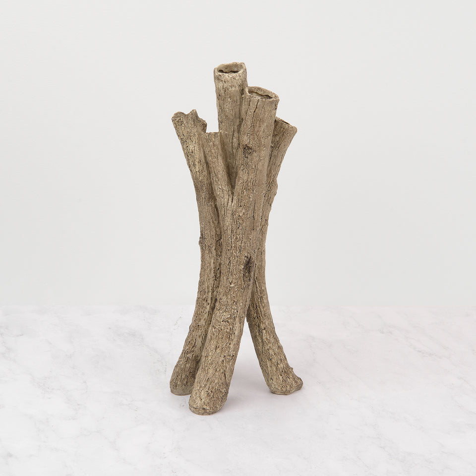 Birch Finish Branch Vase