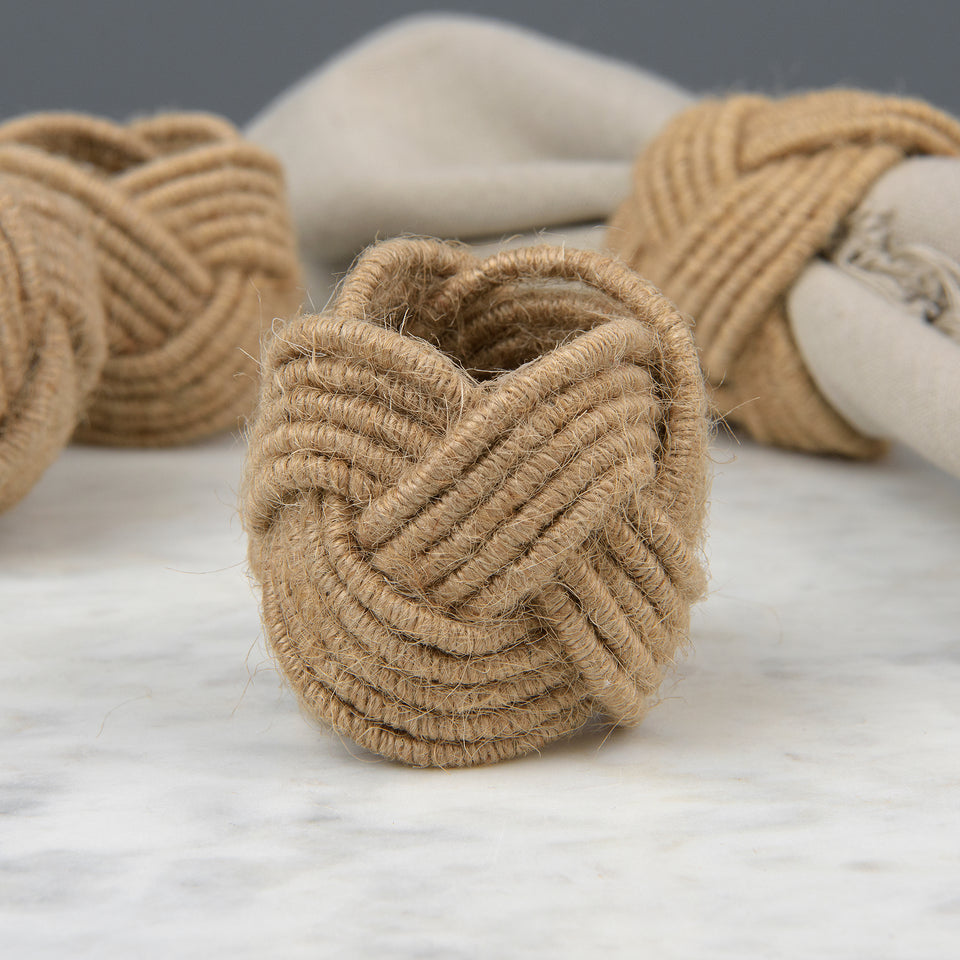 Braided Jute Napkin Rings