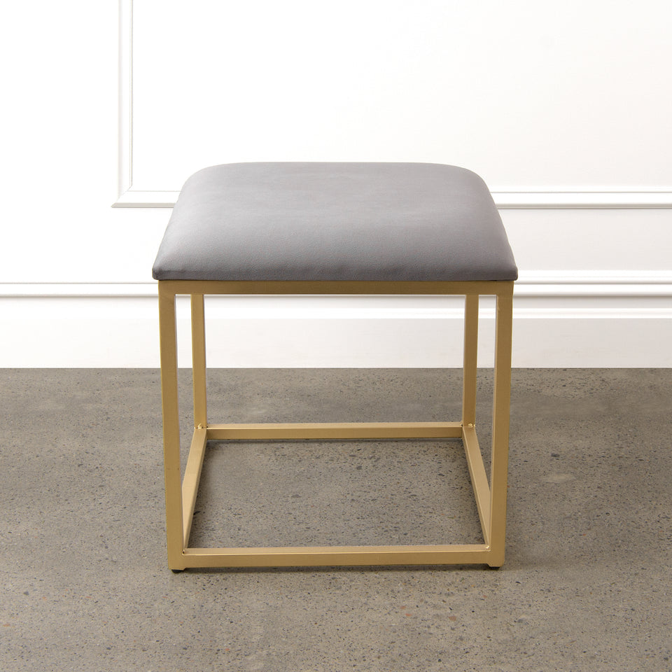 Annabelle Velvet Cushion Stool