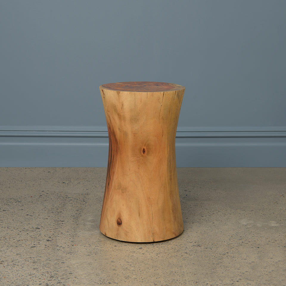 Glen Wood Hourglass Stool