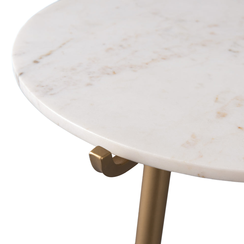 Avenlee Round Marble Side Table