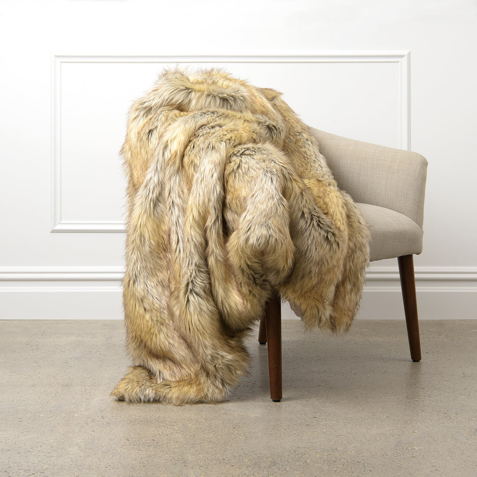 Faux Fur Throw - Kitt Fox
