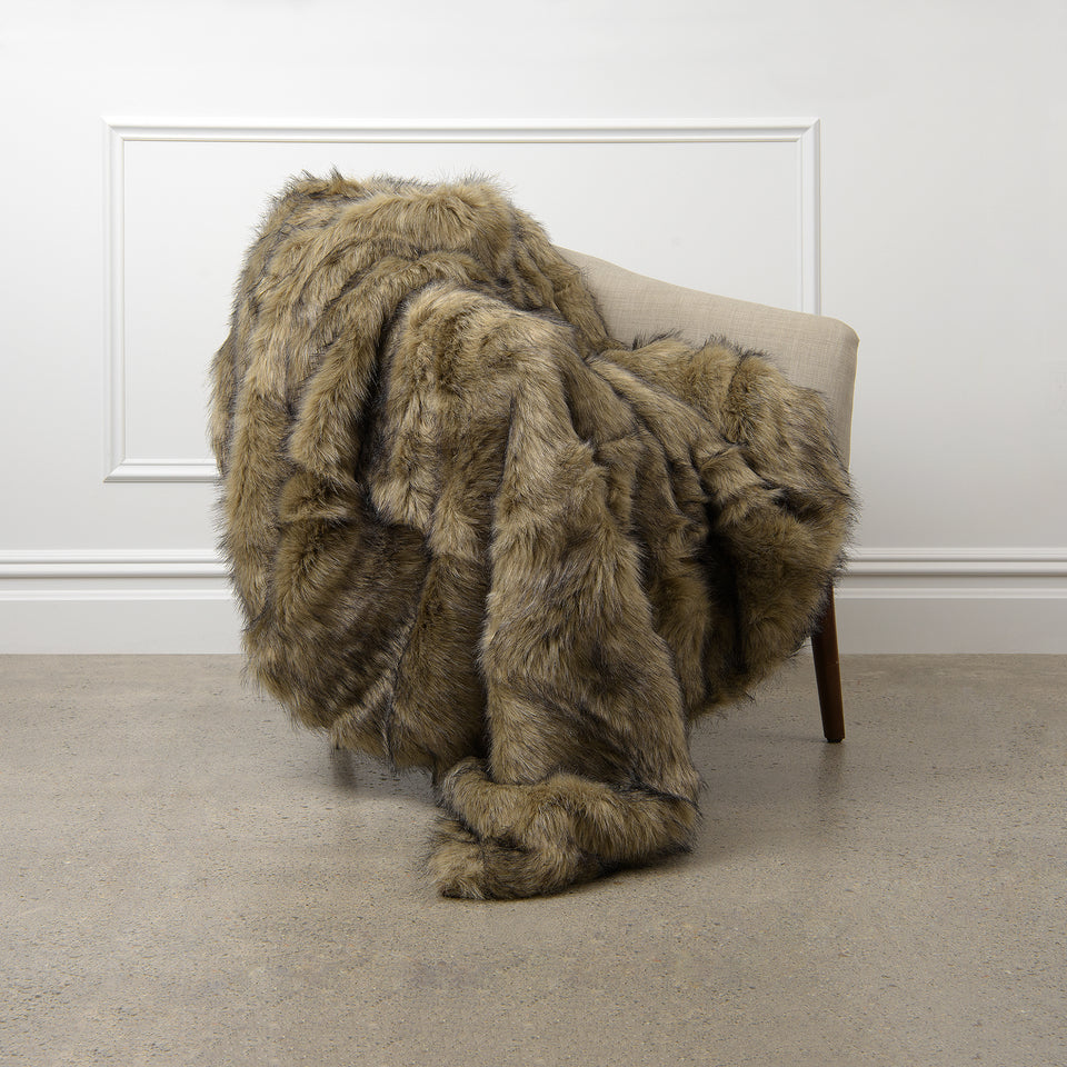 Faux Fur Throw - Tawny Fox