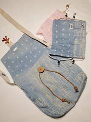 Reversible Denim Bag with Mask