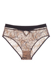 Bohemian Bikini Brief with Cross Front