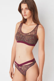 Bohemian Thong with Cross Front