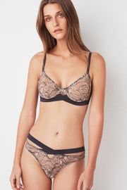 Bohemian Underwire Bra with Cross Front