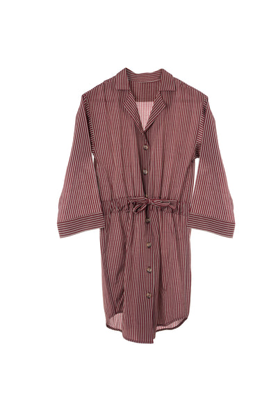 Dixie Shirt Dress with Tie Waist
