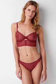 Baklava Underwire Longline Cut Out Bra