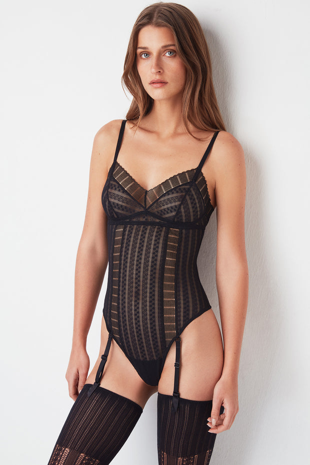 216fdbe30 Lolita Bodysuit with Removable Suspenders