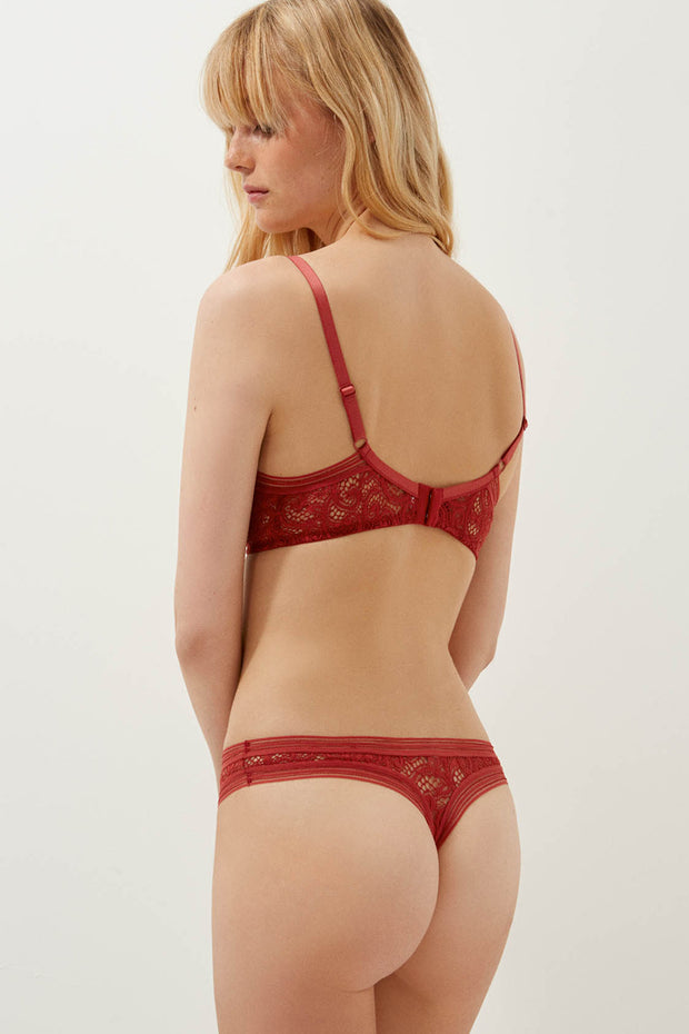 Paisley Soft Cup Triangle Bra