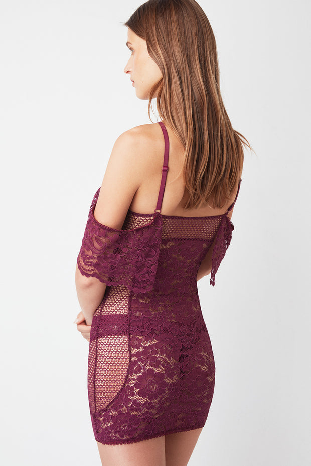 Petunia Off The Shoulder Halter Neck Chemise