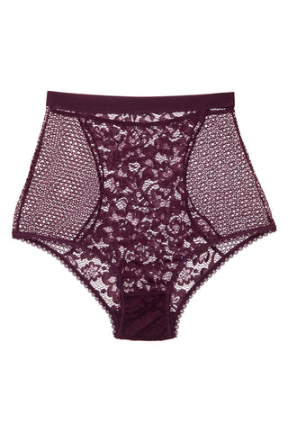 Lilly Silk and Lace High Waist Brief