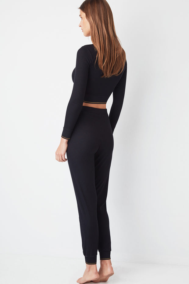 Urban Lace-Up High Waist Track Pants