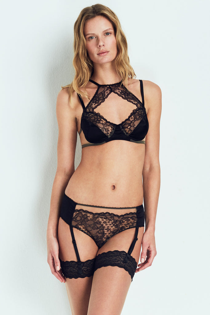 Yasmine Hipster with Removable Garter Straps
