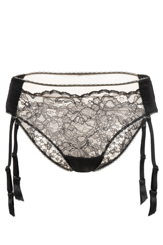 Yasmine Silk and Lace Thong