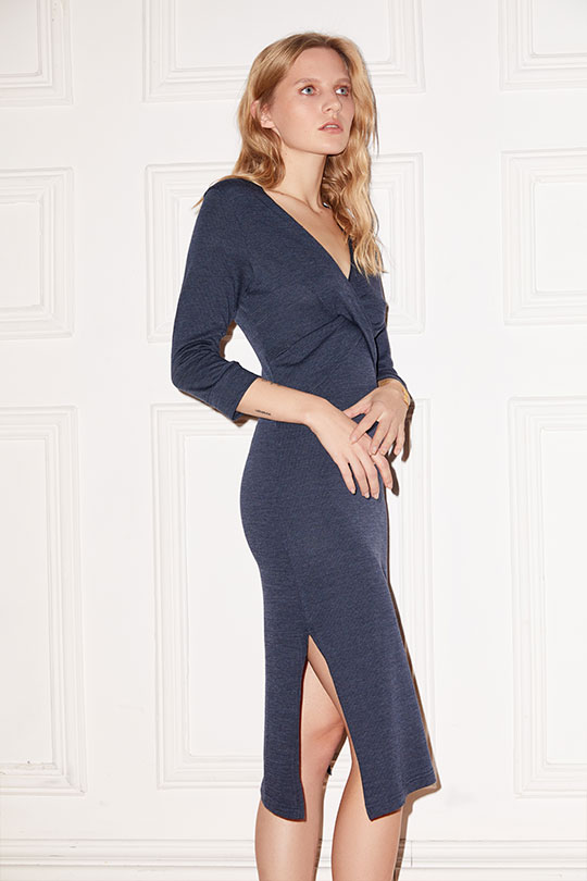 Ella Twisted Front Midi Dress