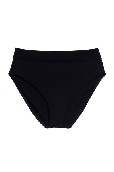 Mare High Waist Bikini Bottom in Black