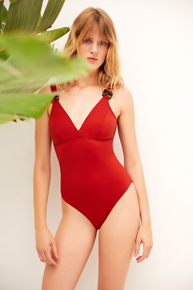 Mare Hidden Underwire Plunge One Piece Suit