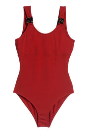 Mare Hidden Underwire Scoop Neck One Piece Suit in Paprika