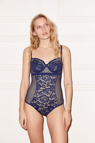 Petunia Underwire Bodysuit with Removable Suspenders
