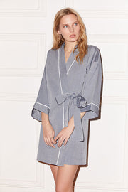 Victoria Wrap Robe with Tie Side Waist