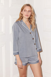 Victoria Asymmetrical Button Placket Shirt