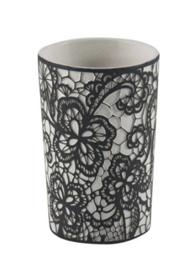 Ceramic Lace Candle